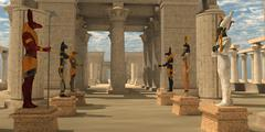 Temple of Ancient Pharaohs - stock illustration