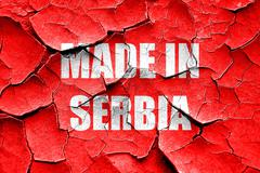 Grunge cracked Made in serbia Stock Illustration