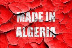 Grunge cracked Made in algeria Stock Illustration