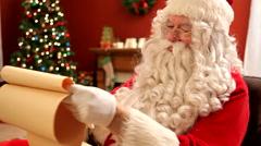Santa Claus shaking finger at camera Stock Footage