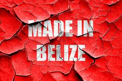 Grunge cracked Made in belize Stock Illustration