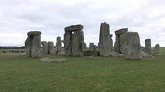 Tourists Prehistoric Stonehenge monument Amesbury England 4K Stock Footage