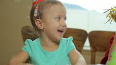 Children celebrating a happy birthday - stock footage