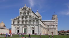 4K footage of the Cathedral of Pisa on April 2015, in Pisa, Italy Stock Footage