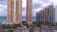 Aerial drone video Sunny Isles Beach FL Stock Footage