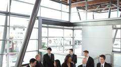 Crowd of business people talking - stock footage