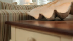 Beach cottage interior, dolly movement Stock Footage