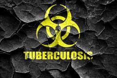 Grunge cracked Tuberculosis virus concept background - stock illustration