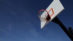 Teen dunks basketball Stock Footage