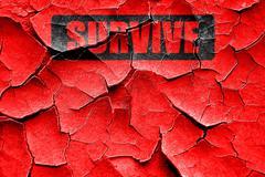 Stock Illustration of Grunge cracked Survive or die