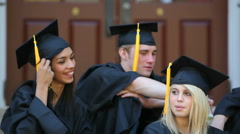 Graduation for students Stock Footage