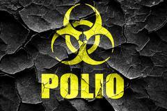Stock Illustration of Grunge cracked Polio concept background