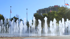 Atlanta Centennial Olympic Park Fountain Stock Footage