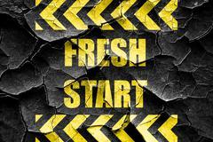 Grunge cracked Fresh start sign Piirros