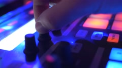 4K Dj Performing Live in Night Club Closeup Stock Footage