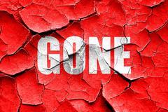Grunge cracked gone sign background Stock Illustration