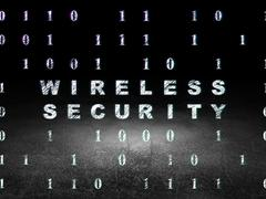 Security concept: Wireless Security in grunge dark room Stock Illustration