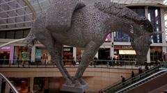 Horse Sculpture at Trinity Leeds ,UK Stock Footage