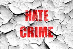 Grunge cracked Hate crime background - stock illustration