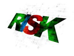 Finance concept: Risk on Digital background Stock Illustration