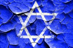 Grunge cracked Star of david - stock illustration