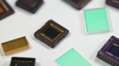 Digital camera sensors - stock footage