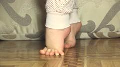 Newborn Baby Sweet Feet. Closeup. Stock Footage
