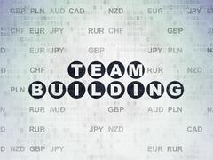 Finance concept: Team Building on Digital Paper background Stock Illustration
