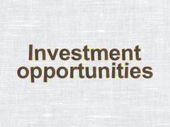 Business concept: Investment Opportunities on fabric texture background - stock illustration