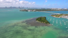 Aerial scene Key Biscayne FL Stock Footage