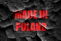 Grunge cracked Made in poland - stock illustration