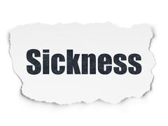 Health concept: Sickness on Torn Paper background Stock Illustration