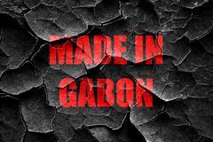 Grunge cracked Made in gabon Stock Illustration