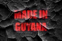 Grunge cracked Made in guyana Stock Illustration