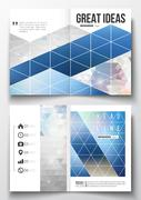 Set of business templates for brochure, magazine, flyer, booklet or annual re - stock illustration