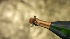 New Year's Champagne, slow motion - stock footage