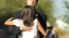 Bride and groom at wedding dance Stock Footage