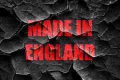 Grunge cracked Made in england Stock Illustration