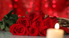 Roses and Chocolate Stock Footage