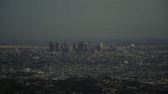 Downtown Los Angeles before sunset (GRADED) Stock Footage