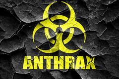 Grunge cracked Anthrax virus concept background - stock illustration
