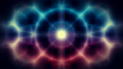 Abstract kaleidoscope motion background seamless loop - stock footage