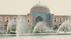 Lotfollah Mosque Isfahan Stock Footage