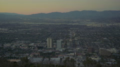 Burbank valley from above (GRADED) Stock Footage