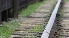 Concept fresh start, teenage girl railway - stock footage