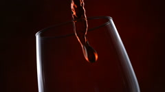 Red wine pour series, slow motion - stock footage