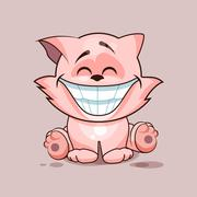 Cat with huge smile - stock illustration