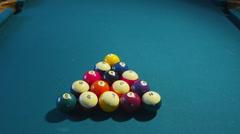 Pool break Stock Footage