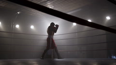 Boxing in the ring Stock Footage