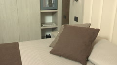 Stock Video Footage of accessories of  a luxurious double room